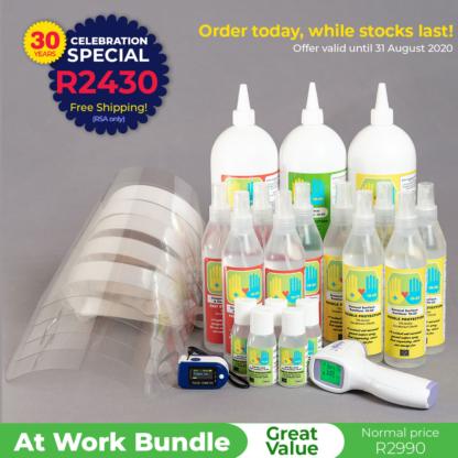Marchem's Sanitizer & PPE bundle - at Work